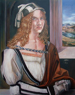 Justin Hawkins in the style of Durer