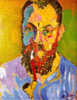 Portrait of Matisse by Andre Derain