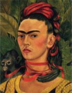 Frida Kahlo - Portrait with monkey