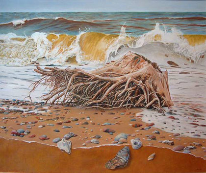 Covehithe Erosion Zone 1 by Suffolk artist Allan Williams